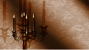 Royalty Free Video of a Candelabra With a Shimmering Background