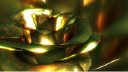 Royalty Free Video of a Rotating Gold Rose