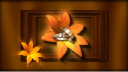 Royalty Free Video of Rotating Wedding Rings with Flowers and Frame in the Background