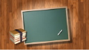 Royalty Free Video of a Chalkboard and Books