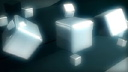Royalty Free HD Video Clip of Spinning Silver 3d Cubes