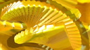 Royalty Free HD Video Clip of an Abstract Spinning Circular Staircase