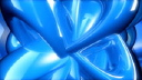 Royalty Free Video of Rotating Blue Abstract Lines