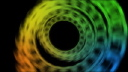Royalty Free Video of Spinning Colours
