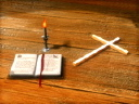 Royalty Free Video of a Cross, Bible and Candle