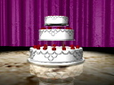 Royalty Free Video of a Wedding Cake