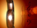 Royalty Free Video of a Treble Clef