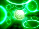 Royalty Free Video of a Golf Ball on a Green Background