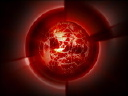 Royalty Free Video of a Spinning Red Globe