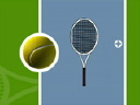 Royalty Free Video of a Tennis Ball and Racket