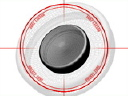 Royalty Free Video of a Hockey Puck and Stick at Centre Ice