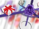 Royalty Free Video of Presents on Ribbons