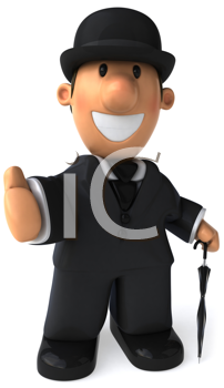 Royalty Free Clipart Image of a Business Gentleman