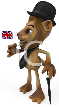 Royalty Free Clipart Image of an English Lions