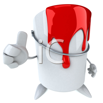Royalty Free Clipart Image of a Paint Can With Red Paint