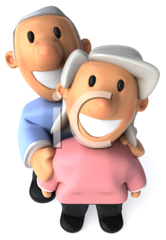 Royalty Free Clipart Image of a Senior Couple