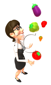 Royalty Free 3d Clipart Image Vegetables