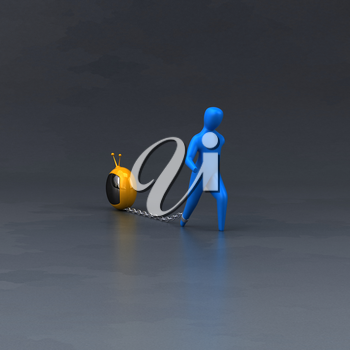 Burden symbol - 3D Illustration