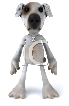 Royalty Free 3d Clipart Image of a Dog