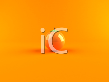 Royalty Free 3d Clipart Image of an Orange