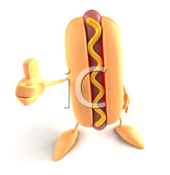 Royalty Free 3d Clipart Image of a Hotdog