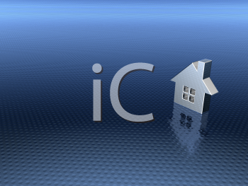 Royalty Free 3d Clipart Image of a White House