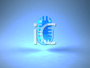 Royalty Free 3d Clipart Image of a Microphone