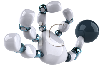 Royalty Free Clipart Image of a Robot Hand Making an Okay Gesture