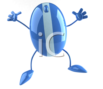 Royalty Free 3d Clipart Image of a Computer Mouse