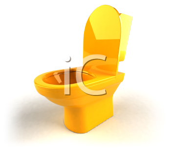 Royalty Free 3d Clipart Image of a Toilet