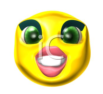 Royalty Free 3d Clipart Image of a Smiley