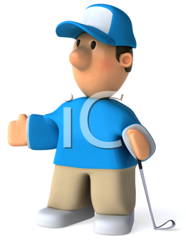 Royalty Free Clipart Image of a Golfer