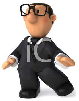 Royalty Free Clipart Image of a Businessman in Glasses