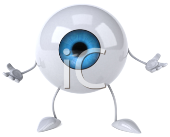 Royalty Free Clipart Image of an Eyeball