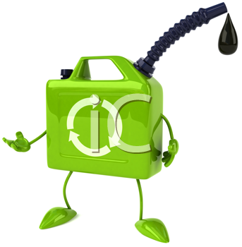 Royalty Free Clipart Image of an Oil Can