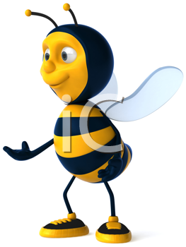 Royalty Free Clipart Image of a Bee