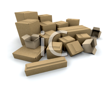 Royalty Free Clipart Image of a Bunch of Gift Boxes