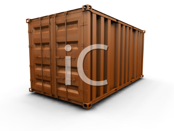 Royalty Free Clipart Image of a Freight Container