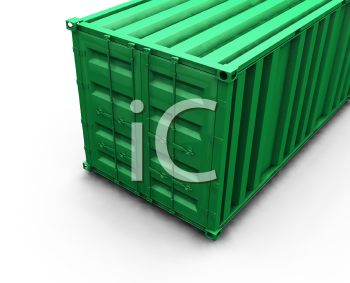 Royalty Free Clipart Image of a Cargo Carrier