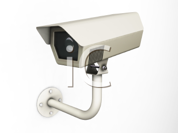Royalty Free Clipart Image of a Security Camera