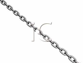 Royalty Free Clipart Image of a Breaking Chain