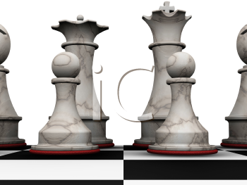 Royalty Free Clipart Image of Chess Pieces