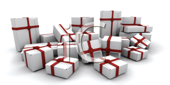 Royalty Free Clipart Image of a Group of Christmas Presents