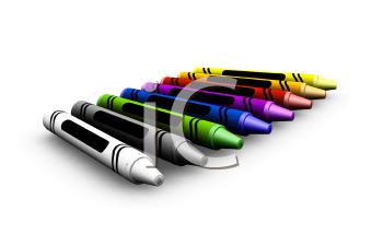 Royalty Free Clipart Image of Crayons