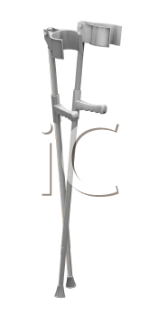 Royalty Free Clipart Image of Crutches