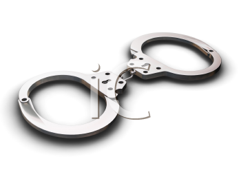 Royalty Free Clipart Image of a Handcuffs