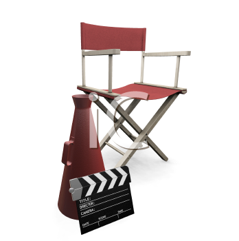 Royalty Free Clipart Image of Movie Items