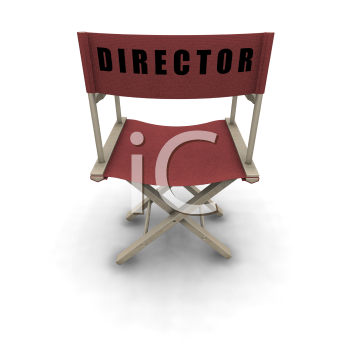 Royalty Free Clipart Image of a Director's Chair