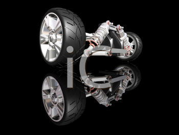 Royalty Free Clipart Image of Automotive Suspension