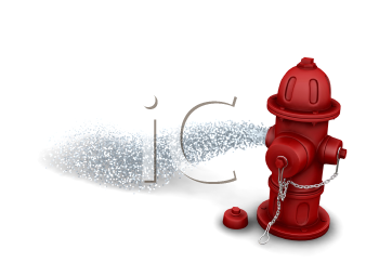 Royalty Free Clipart Image of a Fire Hydrant